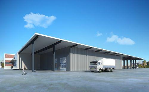 warehouse villa rendering