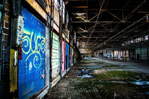 warehouse abandoned wall