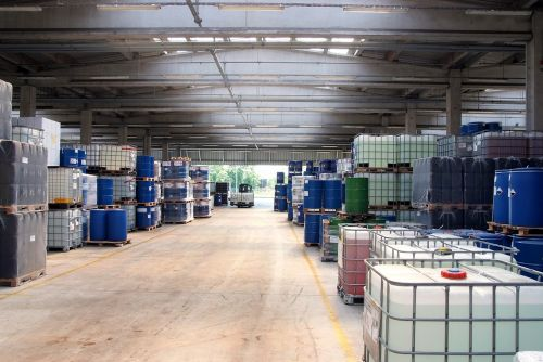 warehouse chemistry industry storage tanks