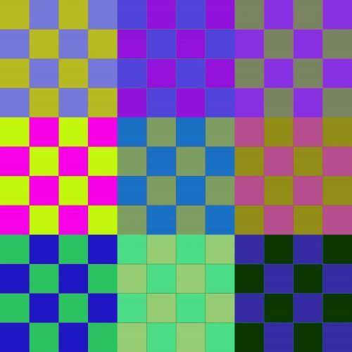Warhol, stilius, atogrąžų, vaisiai, spalvos, šaškių lentelė, aikštės, gradientas, vorko stilius