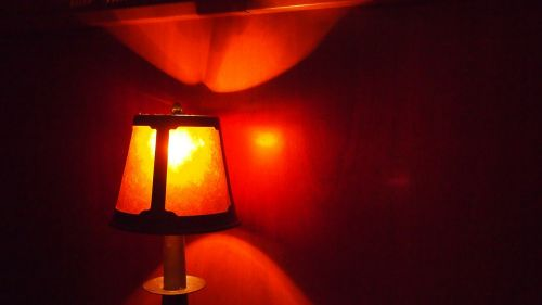 warm lamp light