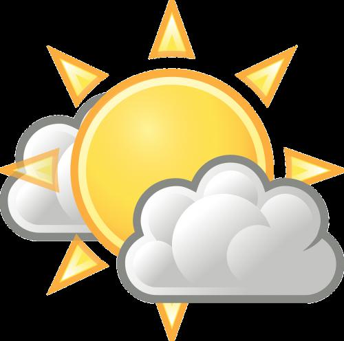 warm sunny cloudy