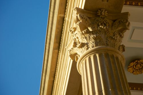Warm Corinthian Columns Support
