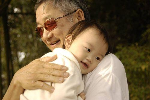 warm feeling great-grandfather sweet