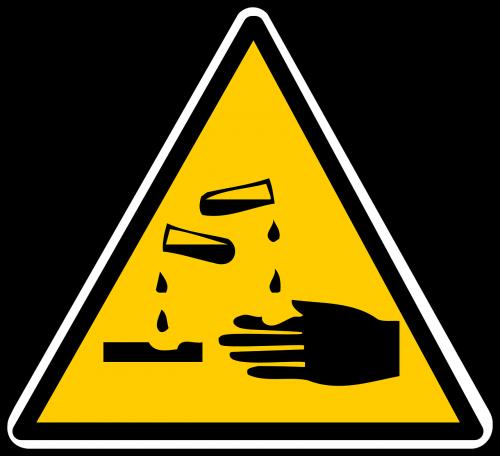 warning signs corrosives