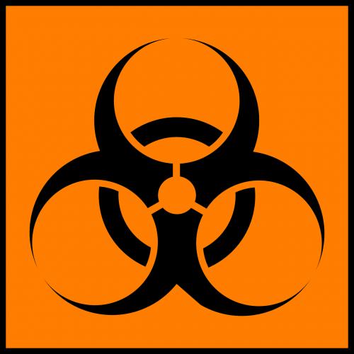 warning trash hazard