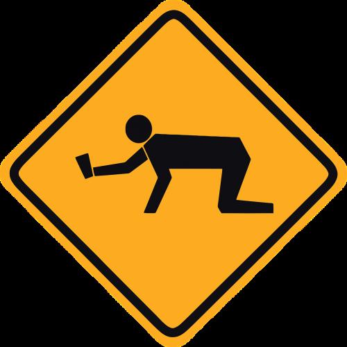 warning crossing road