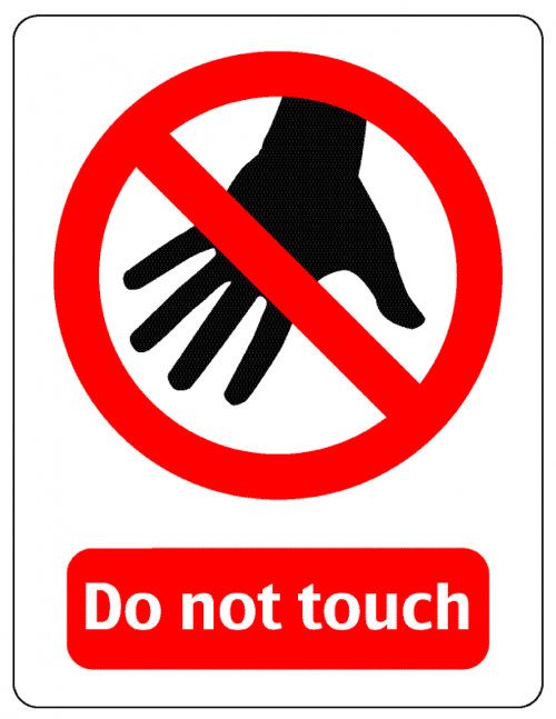 warning hand off