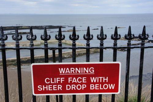 warning danger cliff