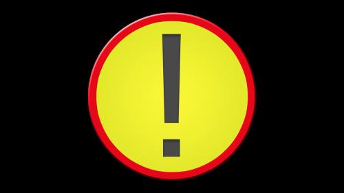 warning msn letters symbol
