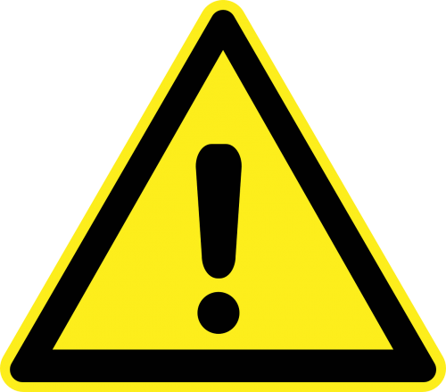warning attention exclamation mark