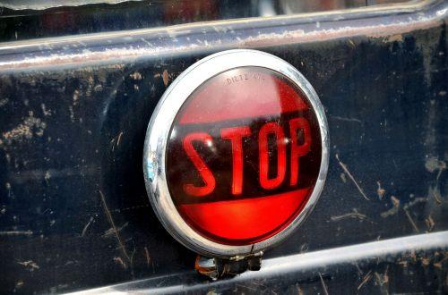 warning light stop warning