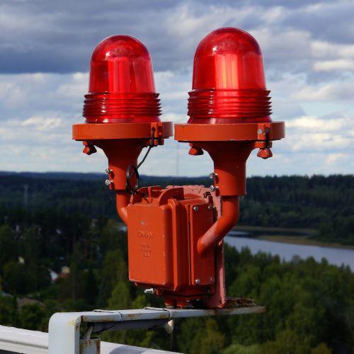 warning lights red light