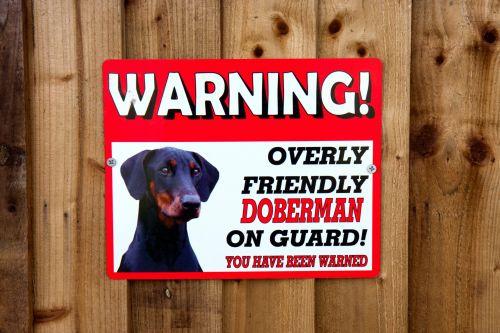 Warning Sign Dog On Guard