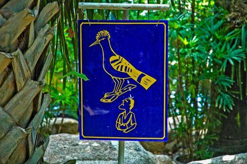 warnschild,pastaba,paukštis