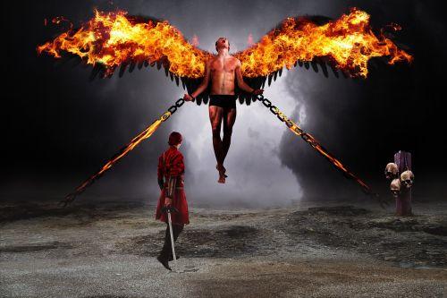 warrior fallen angel demon