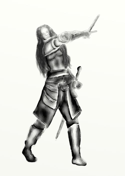 warriors armor sword