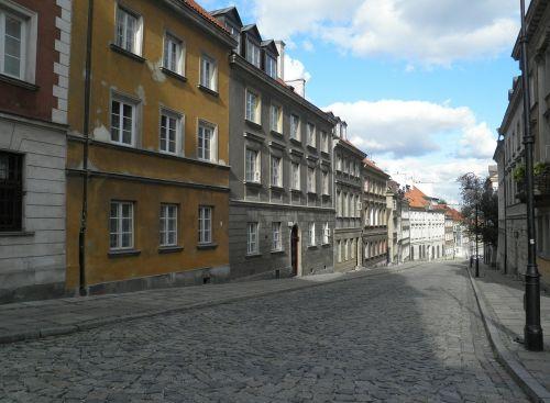 warsaw stare miasto empty street
