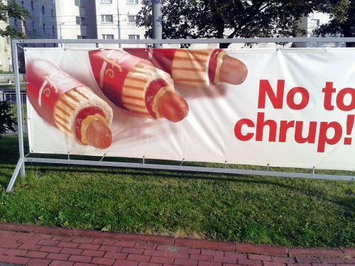 warsaw poland hot dog advertisement
