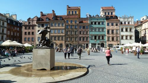 warsaw old town marketplace
