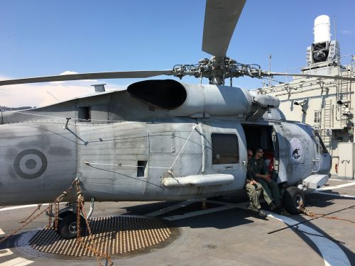 warship frigate helicopter