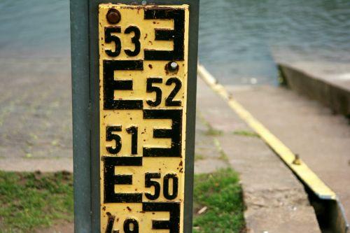 was measured depth gauge water level