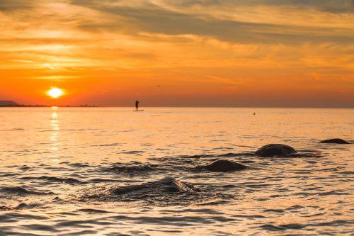 wasaga shoreline sunset