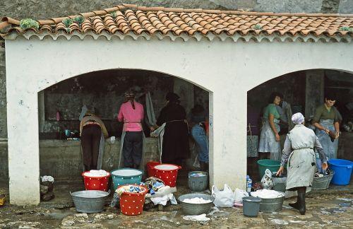 wash laundry day women