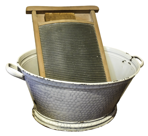 washboard wash tub