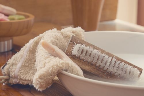 washcloth hand brush wash brush