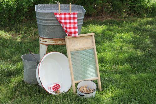 washday laundry washtub
