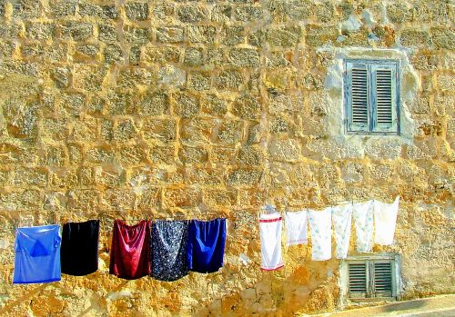 washing day washing mediterranean scene