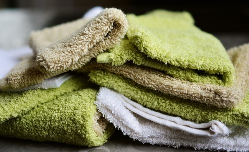 washing gloves washcloth terry