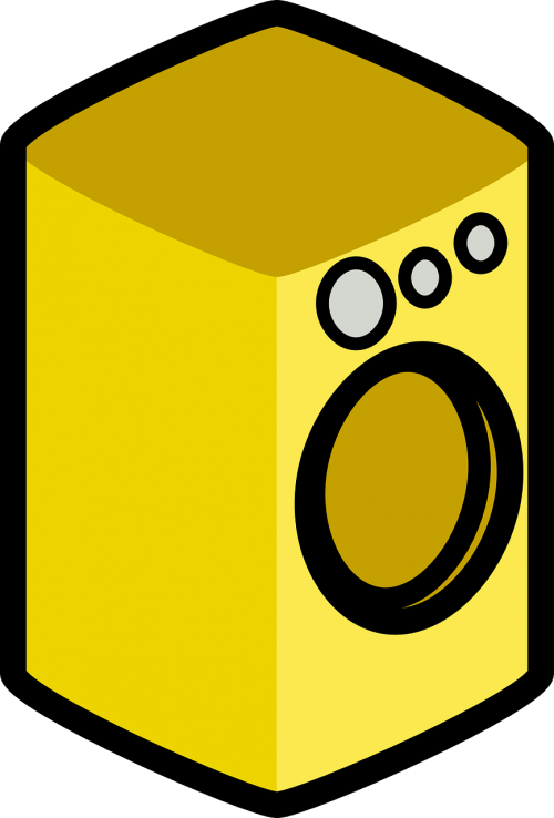 washing machine appliance yellow