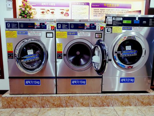 washing machine laundromat laundry