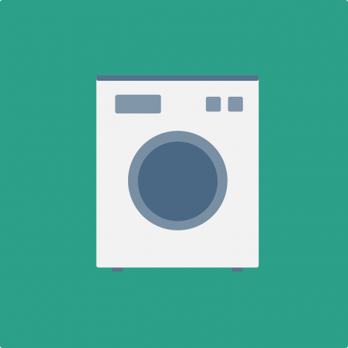 washing machine laundry flat design