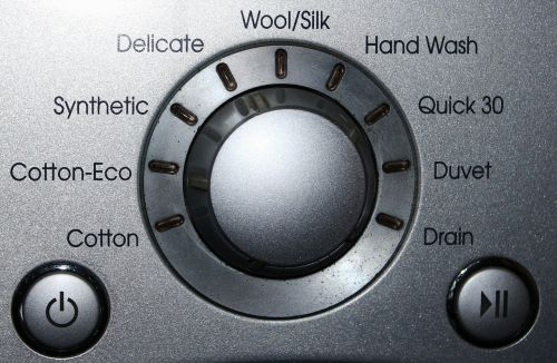 washing machine display control panel