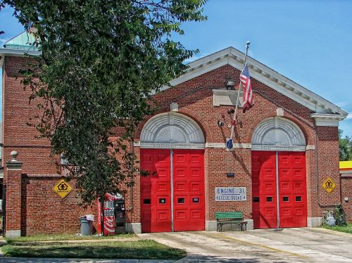 washington american flag firehouse