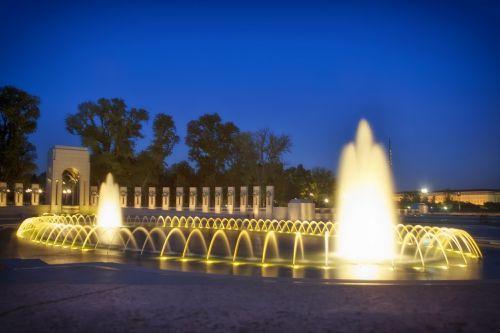 washington dc world war ii memorial fountain