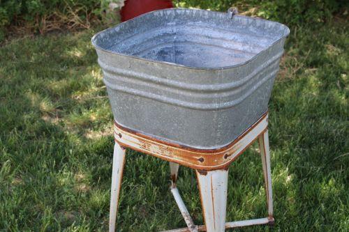 washtub vintage laundry