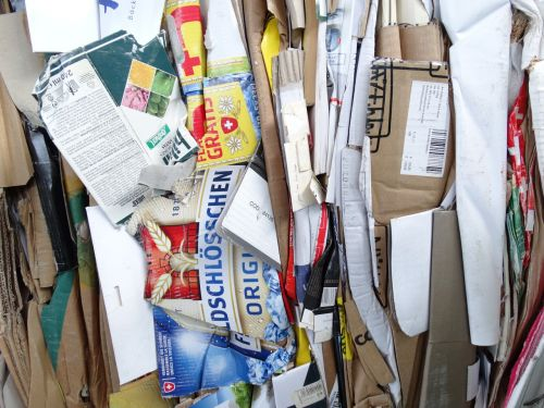 waste paper recycling cardboard