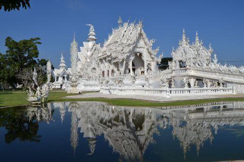 wat rong khon white temple thailand