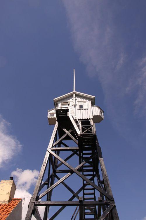 watch tower blue