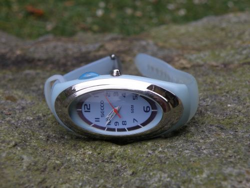 watch blue watch the watch on the wrist