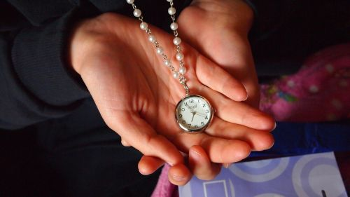 watch hand necklace
