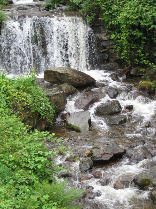 ticino alps mountain stream foaming