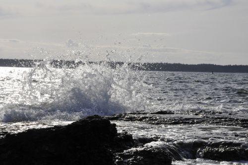 water splash coastal