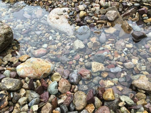 water cobblestone crystal clear