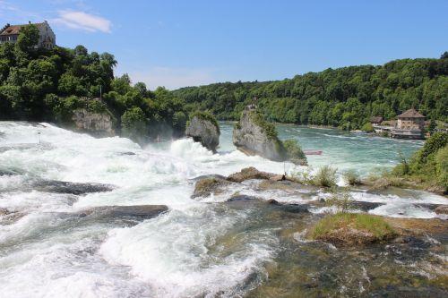 water waterfall schaffhausen