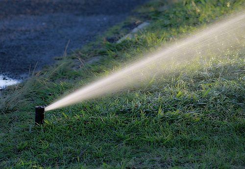 water watering garden